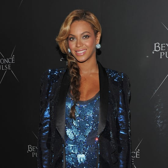 The singer twisted her hair into a side braid to show off her sparkly earrings for the release of her fragrance Pulse in 2011.