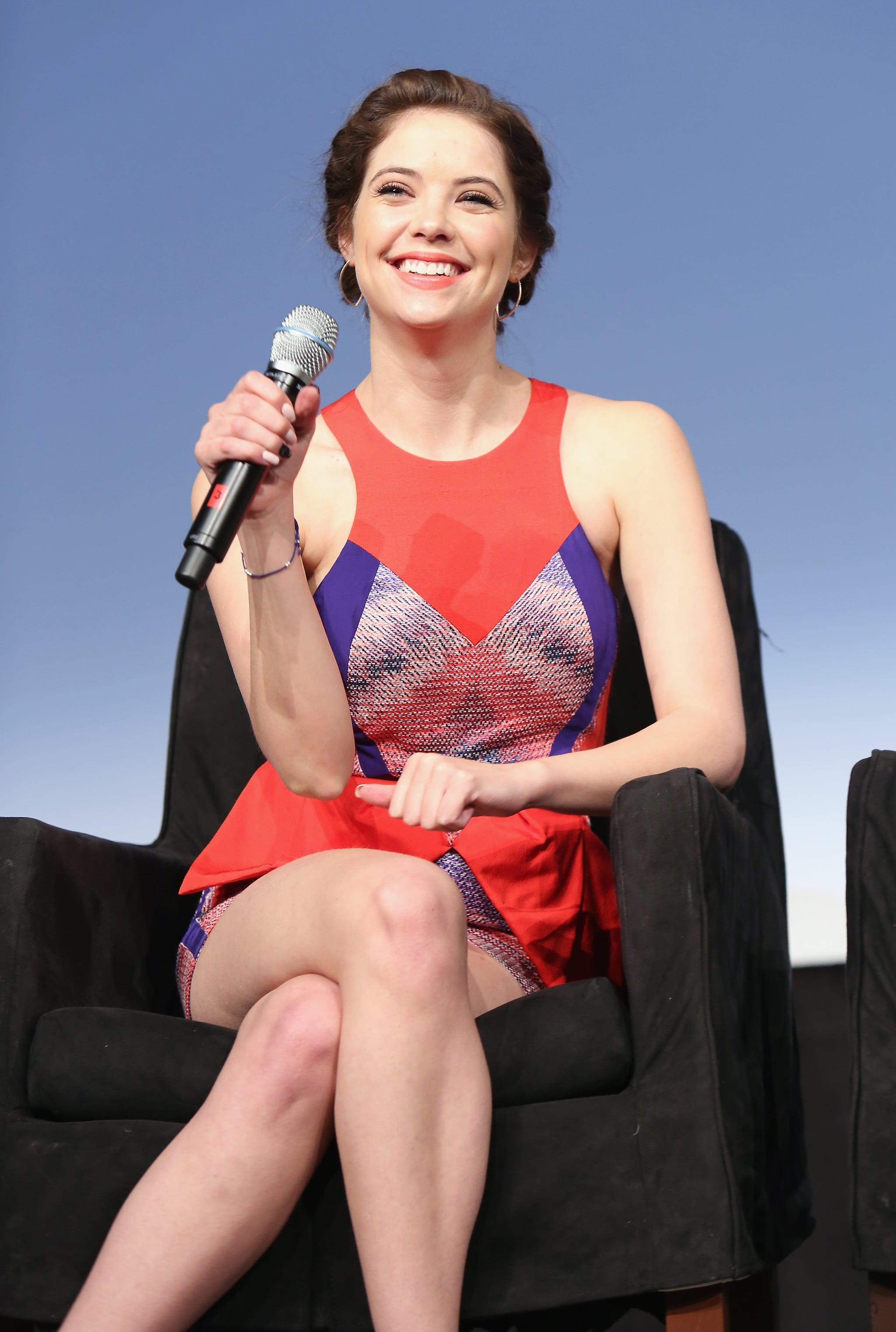 Ashley Benson giggled during the panel.
