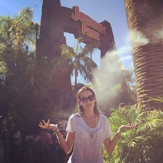 Camilla Belle at Universal Studios' Jurassic Park Ride