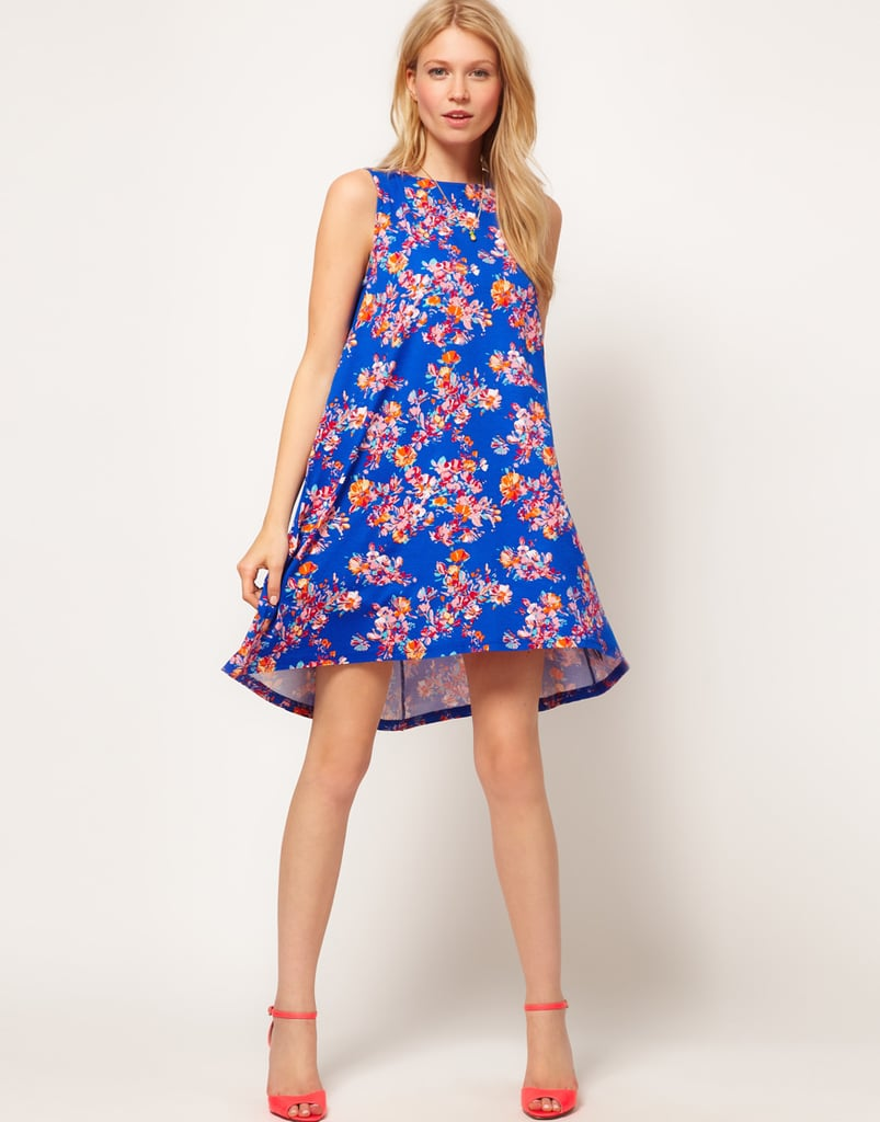Be a cocktail party knockout in this dreamy floral print.  ASOS Swing Dress in Floral Print ($36)