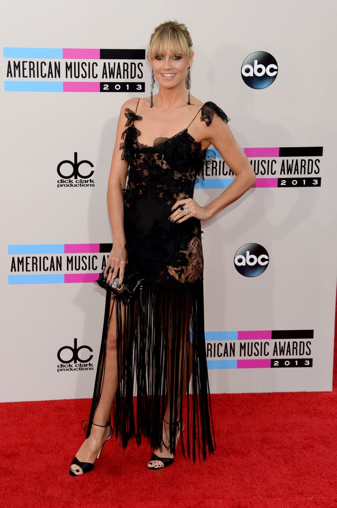 Heidi Klum's black, fringed Marchesa number made us want to slip on our dancing shoes — possibly the same Brian Atwood pair Heidi was wearing. Lorraine Schwartz jewels completed her party style.