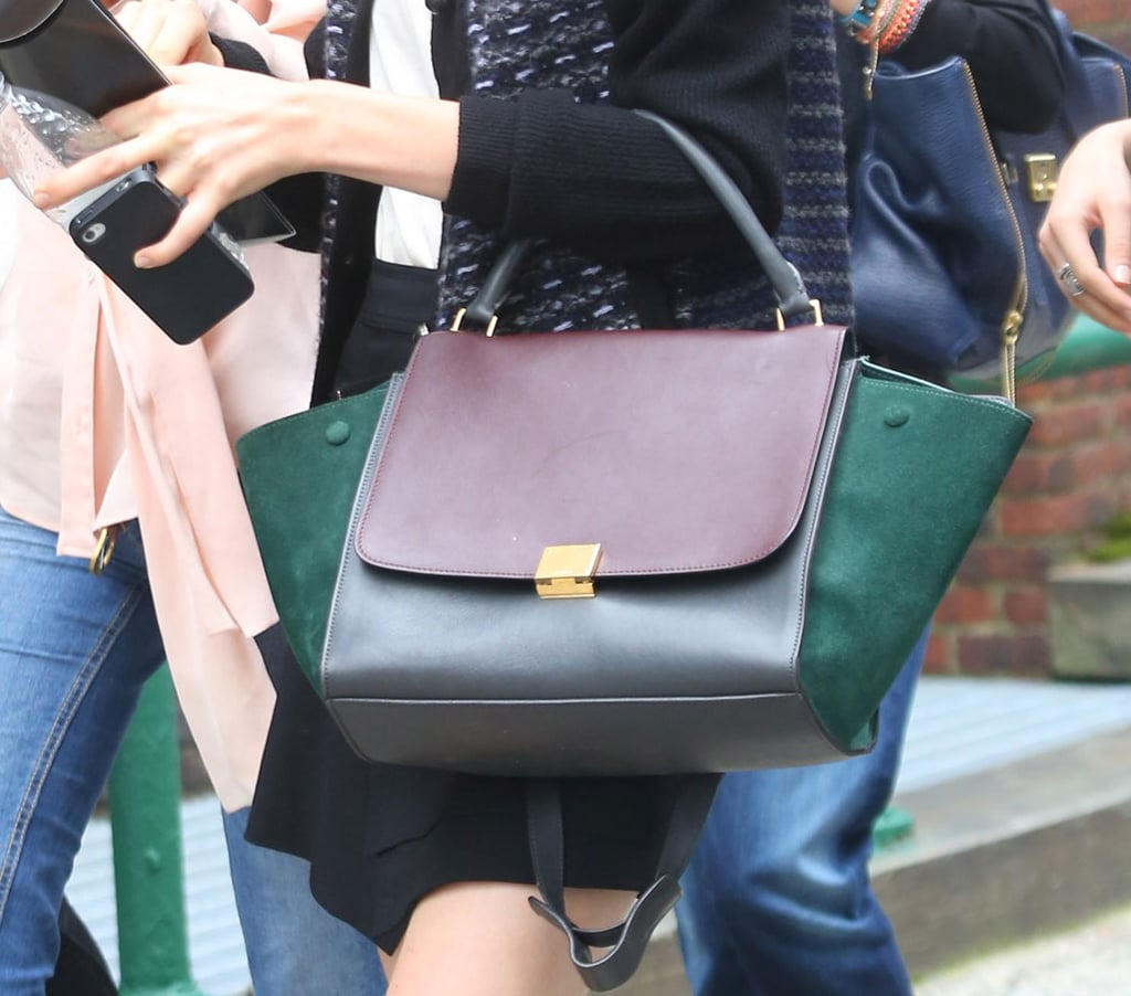 A colorblocked leather Céline — particularly stunning for Fall. Source: Greg Kessler