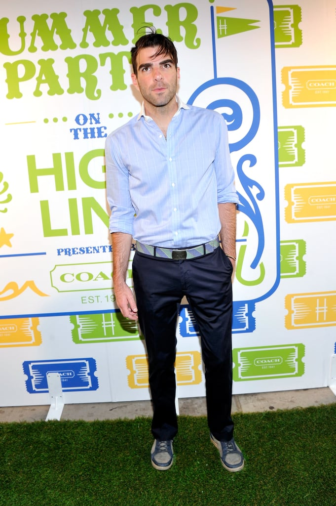 Zachary Quinto dropped by the bash.
