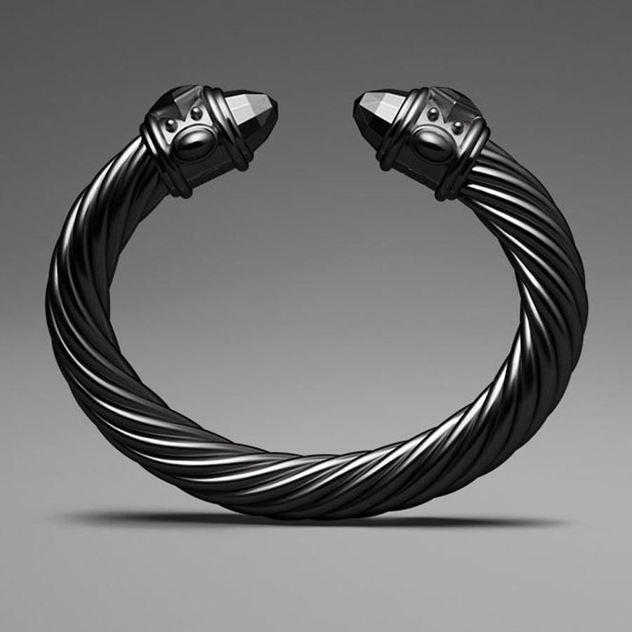 David Yurman Black Aluminum Cable Bracelet