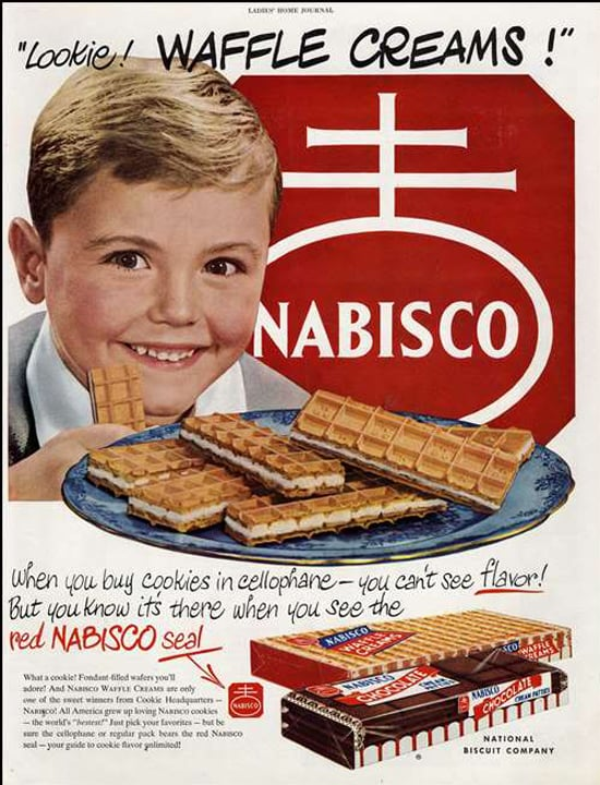 Sigh. What we wouldn't give to be that smiling boy and try those no-longer-available waffle creams.