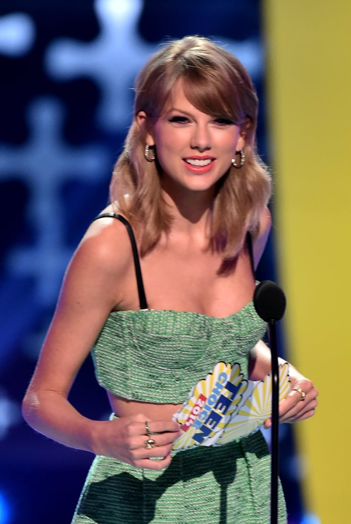Taylor Swift was all smiles while presenting an award in 2014.