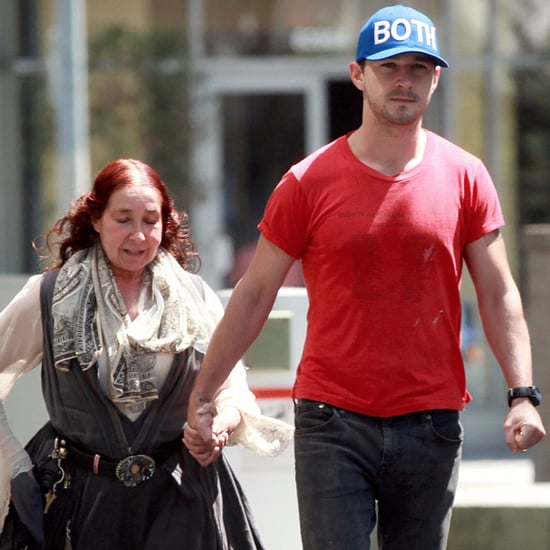 Shia LaBeouf Holding Hands With His Mom in LA
