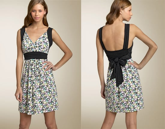 Fab Finger Discount: BCBG Max Azria Painted Squares Banded Waist Dress