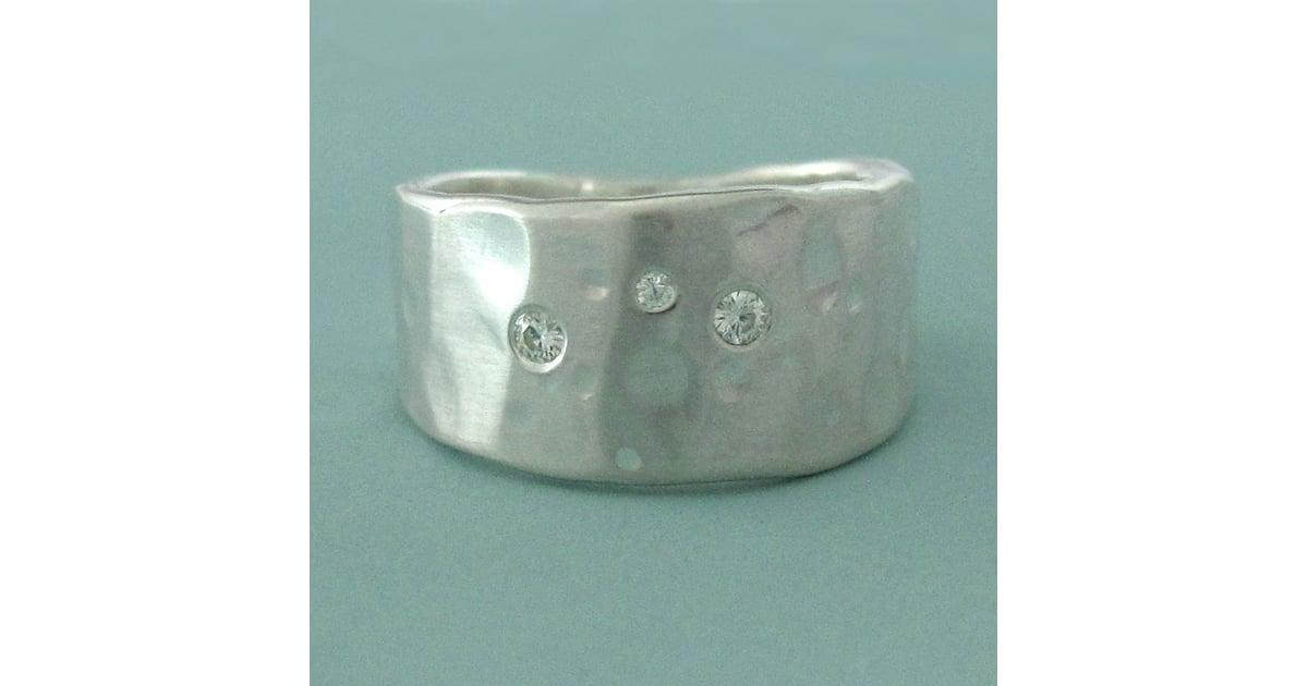 Silver & Moissanite Ring $80