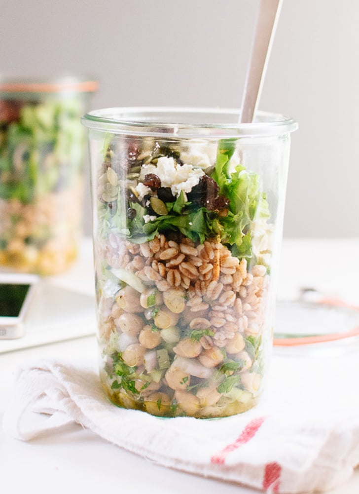 Chickpea, Farro, and Greens Salad