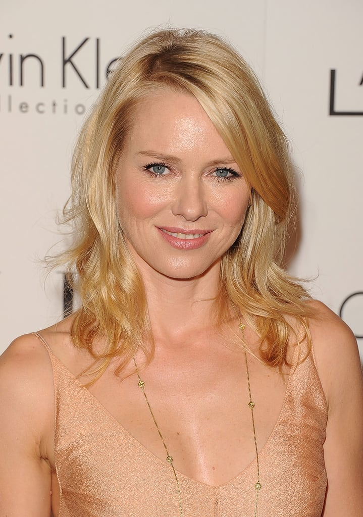 Naomi Watts rocked a nude dress at an event for Elle.