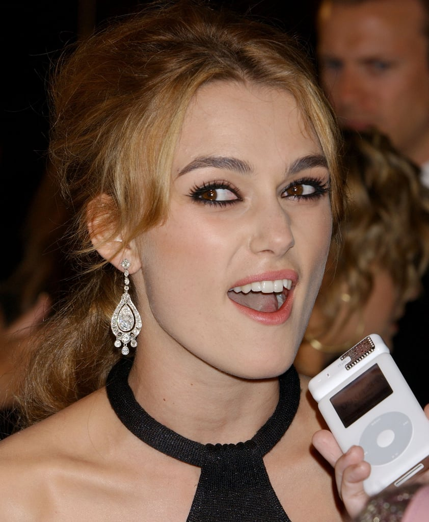 Ahh, Keira Knightley wanted to bite her tech, too. Make it stop.