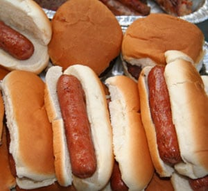 Calories in Hamburgers and Hot Dogs