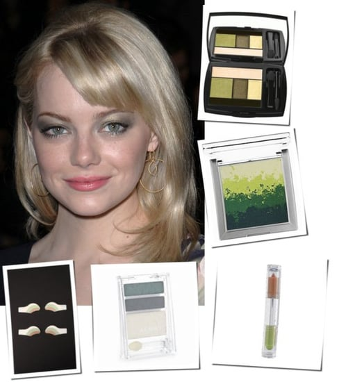 Create Green Smoky Eyes Like Emma Stone