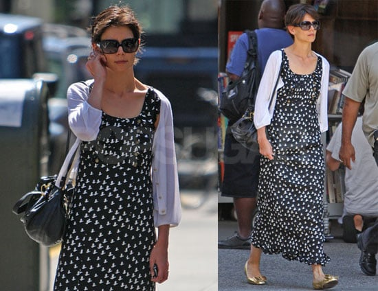 Photos of Katie Holmes Wearing a Dress in NYC