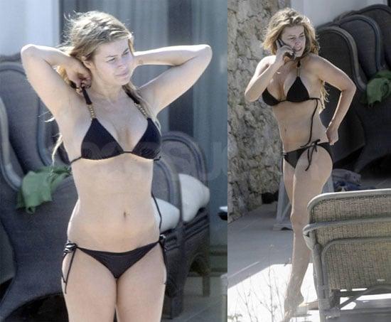 Photos of Carmen Electra in a Bikini Poolside