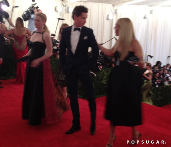 Mamie Gummer had the pleasure of walking the carpet with Eddie Redmayne, who very politely declined being interviewed.