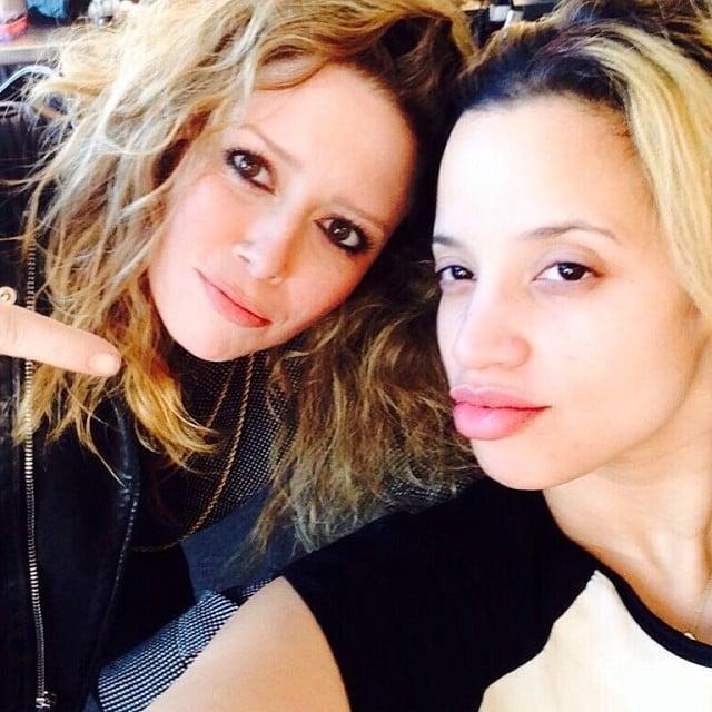 Lyonne and Dascha Polanco took a cute selfie. Source: Instagram user oitnb
