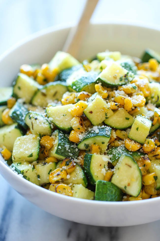 Zucchini and Corn With Parmesan