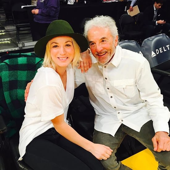 Kaley Cuoco and Her Dad at a Basketball Game in LA 2016