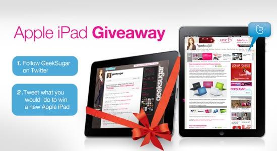 Win an Apple iPad on Twitter From GeekSugar