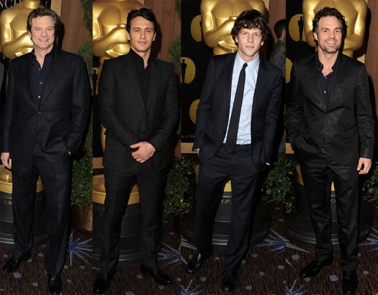 Pictures of the Best Actor Nominees at the Academy Awards Nominees Lunch in Beverly Hills 2011-02-07 17:03:00