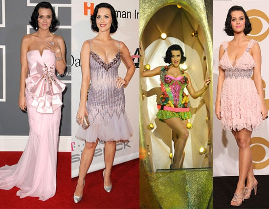 Singer Katy Perry's Outfits at the 2009 Grammys
