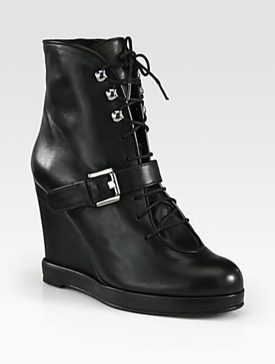 These  Surface To Air Leather Buckle Wedge Ankle Boots ($308, originally $440) are a serious steal — they're luxe, endlessly versatile, and will last you seasons.