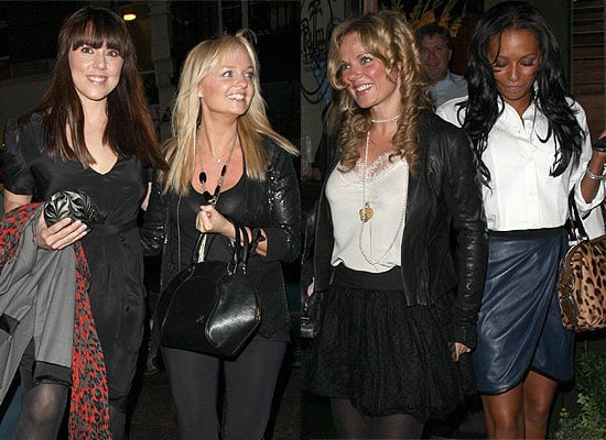 Photos Of Spice Girls Geri Halliwell, Emma Bunton, Mel C, Mel B But No Victoria Beckham As They Reunite For Dinner In London