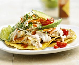 Fish Tostadas With Chili Lime Cream Recipe