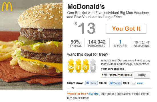McDonald's LivingSocial Deal
