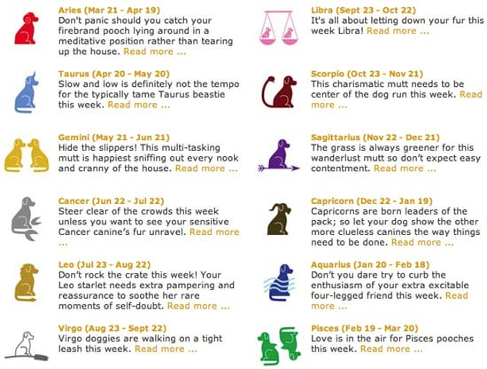 Pet Horoscopes
