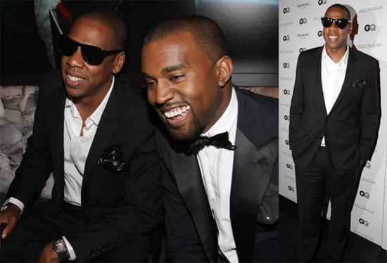 Pictures of Kayne West and Jay-Z at a Rocawear Event Held at the Gansevoort Hotel in NYC