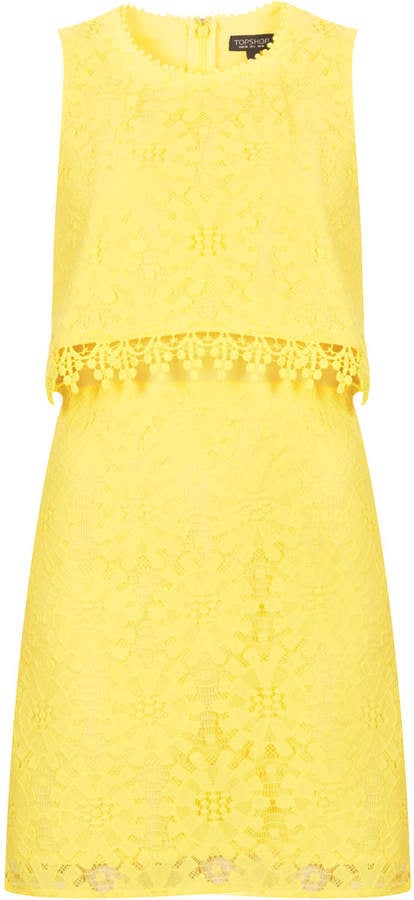 Topshop Yellow Dress