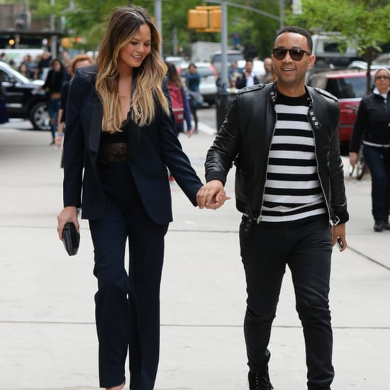 Chrissy Teigen John Legend Hold Hands in NYC May 2016