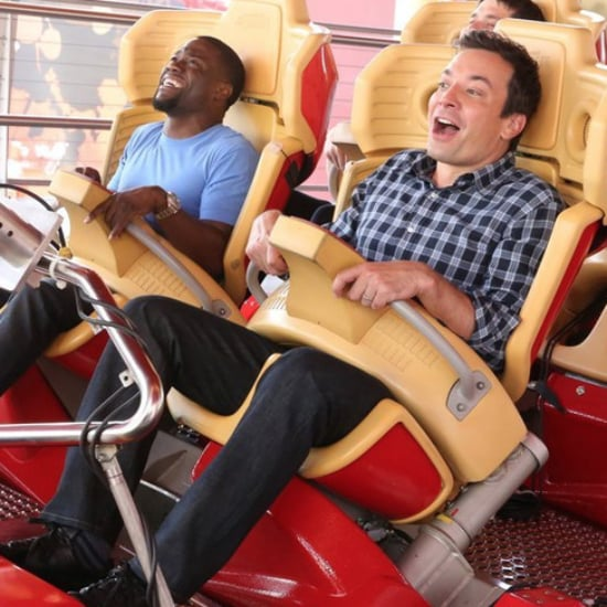 Kevin Hart Rides Roller Coaster With Jimmy Fallon | Video