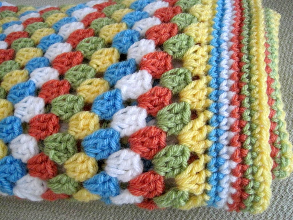 Granny Square Afghan Baby Blanket