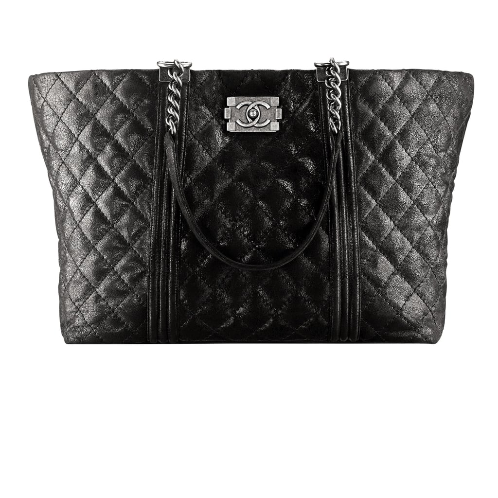Chanel Black Quilted Leather Shopping Bag With a Boy Lock Photo courtesy of Chanel