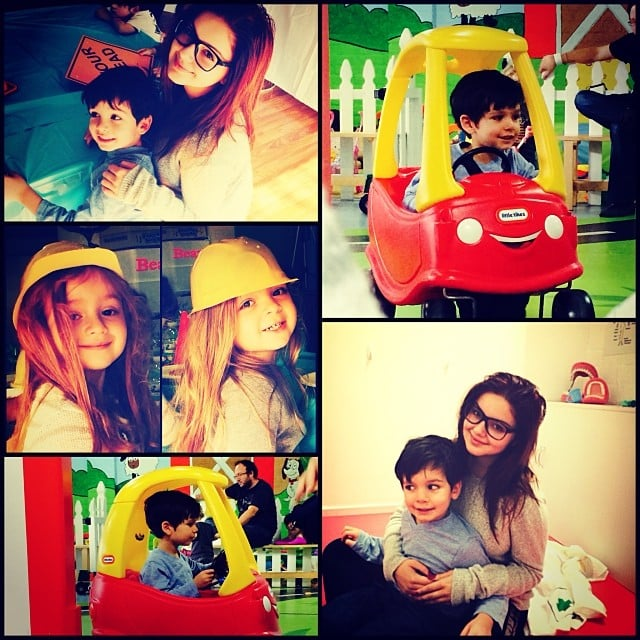 Ariel Winter posted a collage of her own modern family moments.  Source: Instagram user arielwinter