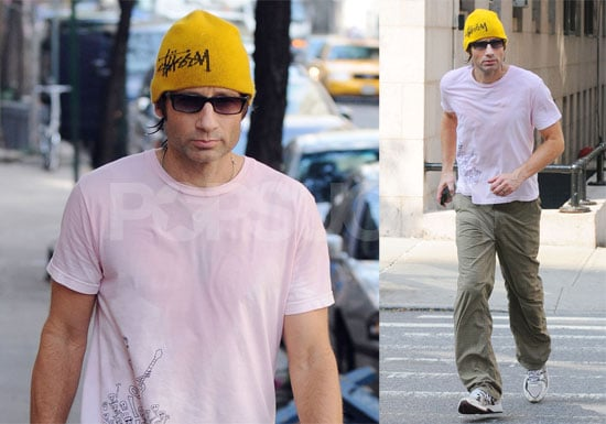 Photos of David Duchovny Jogging in New York City, After Recent Release From Rehab For Sex Addiction