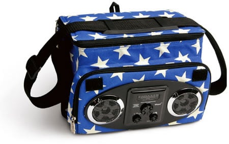 Totally Geeky or Geek Chic? Starry AM/FM Cooler Bag