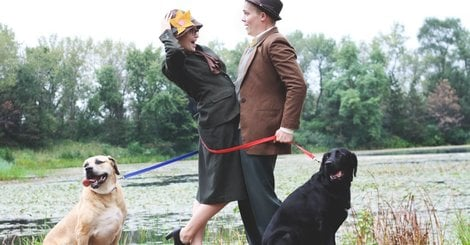 This Couple's '101 Dalmatians' Engagement Pics Are Too Doggone Cute