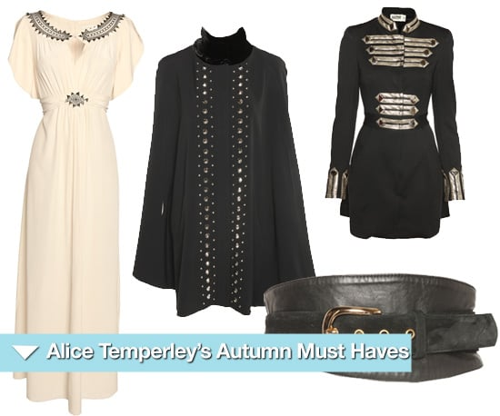 Alice Temperley Picks her Favourite Autumn '10 Items