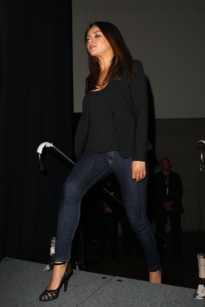 Mila Kunis walked onstage at Comic-Con.