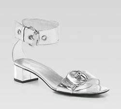 The Look for Less: Gucci Silver Ankle Strap Sandal