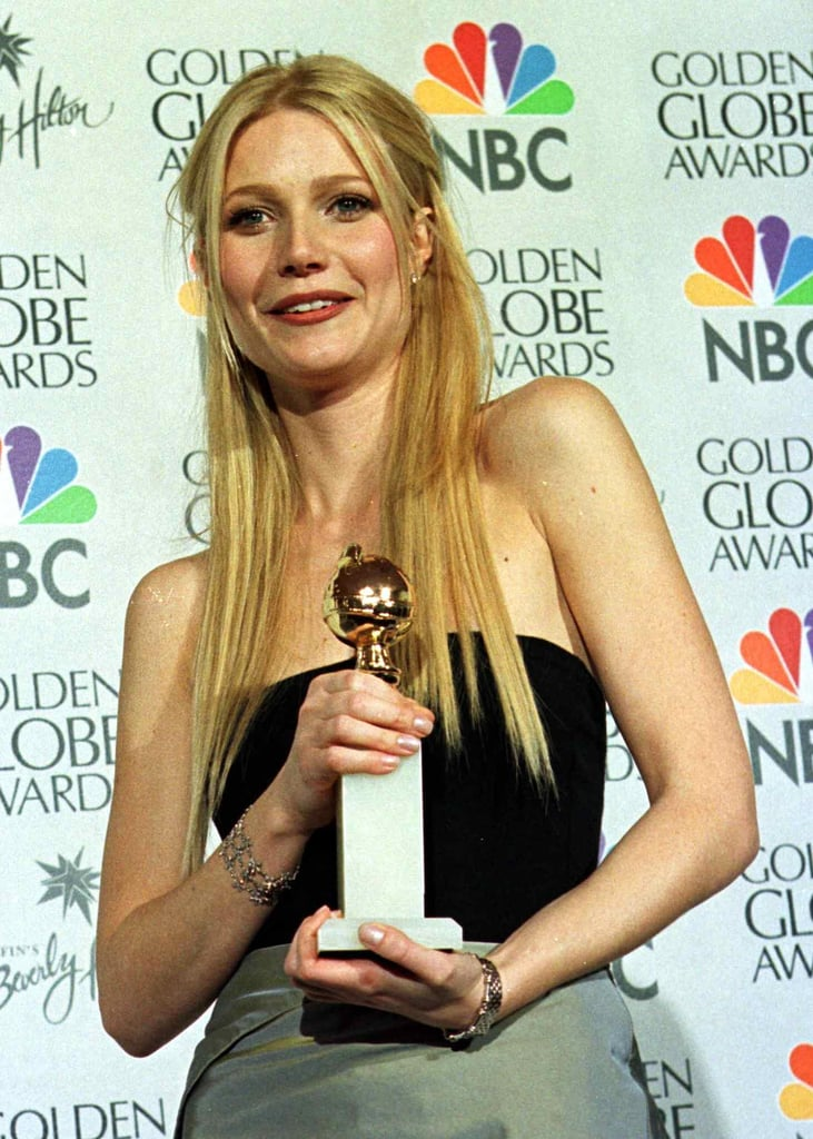 Gwyneth took home a Golden Globe in 1999 for her role in Shakespeare in Love, and she went with lengthy hair that was in style at the time.