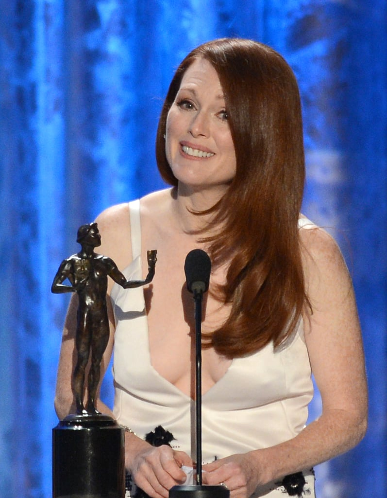 Julianne Moore accepted her SAG Award.
