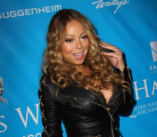 Skinny Mariah Carey in leather at event for Secretary-General of the United Nations Ban Ki-moon in LA
