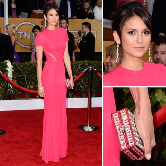 Nina Dobrev: SAG Awards Red Carpet Dresses 2013