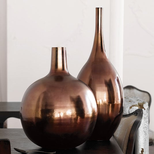 Nice and New: Brocade Home Brushed Metal Vase